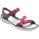 Crocs Swiftwater Webbing - Sandales Femme - gris/rose
